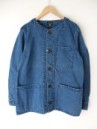 GOHEMP/NO COLLAR JACKET オックス
