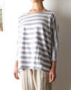 BORDER DOLMAN WOMAN TEE