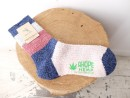 PILE BORDER WOOL SOX