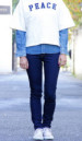 POWER STRETCH PANTS DENIM