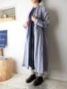COTTON FLEX コート(月の刺繍入り)