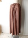 BAMBOO GATHERED ROUND SKIRT