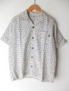OPEN S/S SHIRTS 麻柄